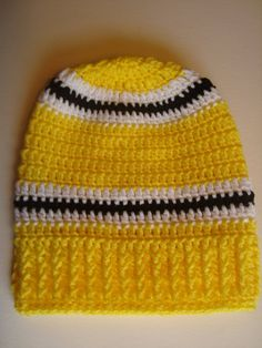 Pittsburg Steelers Crochet Slouch Hat Beanie by SuperCrochetMom Cool  Coloring Pages 365601f71