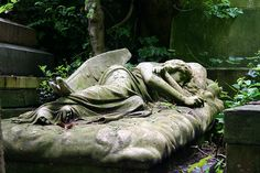 This is my favourite angel at Highgate Cemetery. Peaceful, beautiful and terrible. All at once.