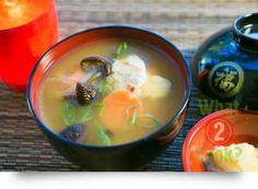 Miso Soup, ginger & pork: Nutritious miso with pork in a tasty soup that's ready in 20 minutes Ginger Pork, Miso Soup, Tasty, Asian, Inspired, Desserts, Recipes, Food, Tailgate Desserts