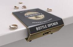 back bar glorifier—bottle opener