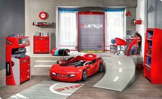 Fun Bunk Beds For Boys | car shaped beds for boys 2 Logan is out growing his cars bed... But this room is just awesome!!!!
