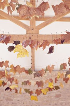 leaf bunting - how cool!
