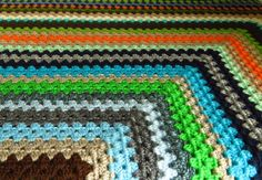 Colorful Granny Square Afghan Blanket. Available to buy from https://www.etsy.com/uk/shop/Phoenixsmiles. Lots of colorful creations in store, why not take a look?