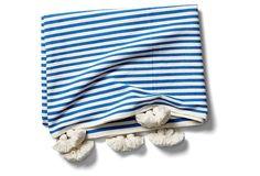 Minza Cotton Throw, Blue