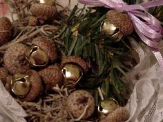 Acorn Jingle Bells Autumn Elegant Rustic Woodland Wedding Thanksgiving Holiday Christmas Home Decor itsyourcountry