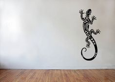 Maori tattoo style lizard  Wall decal perfect by AdnilCreations, £4.99