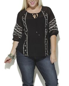 Embroidered Blouse from Wet Seal +