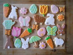 Karen's Easter cookies. A true artist!