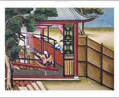 """SCUOLA Cinese """"tessitura della seta su un telaio"""" stampa NUOVE Scegli la tua taglia, da 55cm fino   eBay"""