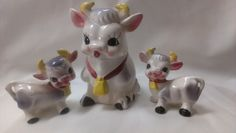 Cow Salt and Pepper Shakers and Cow SugarBowl  (588) - pinned by pin4etsy.com