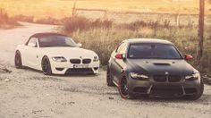 Black And White BMW M3 Sports Car Wallpaper - http://www.gbwallpapers.com/black-white-bmw-m3-sports-car-wallpaper/ ( / Cars)
