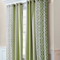 Thermalogic Trellis Print Grommet-Top Insulated Thermal Curtain Pairs -- Sage