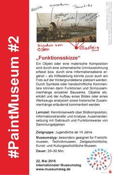 """#2 """"Funktionsskizze"""" #PaintMuseum"""