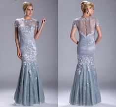 Wholesale cheap evening dresses online, 2014 spring summer - Find best tulle evening dresses long crew short sleeve zuhair murad evening dresses 2014 special occasion dresses sheath back zipper applique beads wW at discount prices from Chinese evening dresses supplier on DHgate.com.