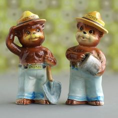 Smokey Bear Vintage Salt & Pepper Shakers