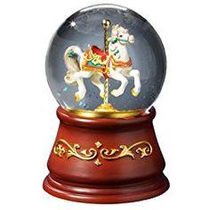 THE SAN FRANCISCO MUSIC BOX COMPANY Heritage Rotating Single Horse Water Globe