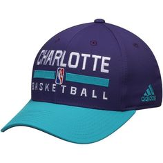 Charlotte Hornets adidas 2Tone Practice Structured Adjustable Hat - Purple - $21.99