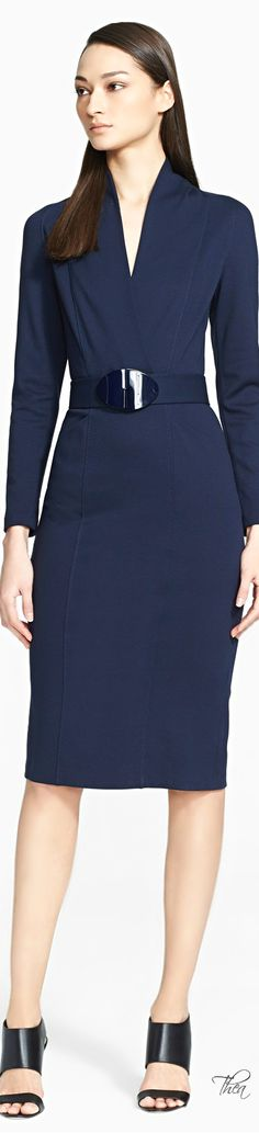 Armani Collezioni ● Milano Dress with Belt Beautifuls.com  Fairly modest, very tasteful