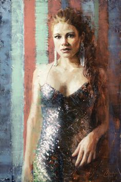 Poised by Christopher Clark Beyond Paint, Oil Paint On Wood, Star Wars Painting, Contemporary Ballet, Clark Art, Figure Painting, Art Oil, American Art, Art Photography