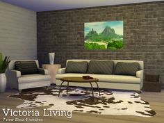 Victoria Living, a combination of my Sims 3 items and some new items in 1 new modern livingroom. Found in TSR Category 'Sims 4 Living Room Sets' Sims 4 Cc Furniture, Furniture Decor, Living Room Sets, Living Room Modern, Sims 4 Blog, Sims 4 Cc Skin, Sims 4 Update, Sims 4 Cc Finds, My Sims