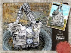 Eclectic Elements by Tim Holtz for Coats - Time To Travel Tote   Sew4Home