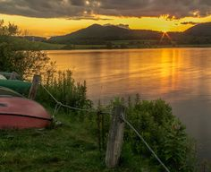 Sunset over Calm Waters by Lorie  Barth on 500px-Rose Valley Lake