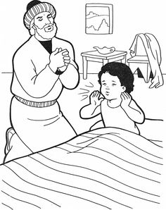 the widows gift coloring pages - photo#16