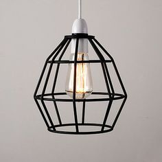 Vintage Industrial Style Metal Cage Wire Frame Ceiling Pendant Light Lamp Shades