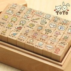 This is a set of Korean rubber stamps, 40 pieces included. Below is the detailed information: ★ Size: Box: * * Stamp: * * ★ Usage: It can be used to make a post card, letter, diary, etc. ★ Condition: new ★ For ink pad: Filofax, Rabbit Crafts, Korean Stationery, Kawaii Stationery, Vintage Numbers, Cute Stationary, Alphabet Stamps, Planner Decorating, School Supplies