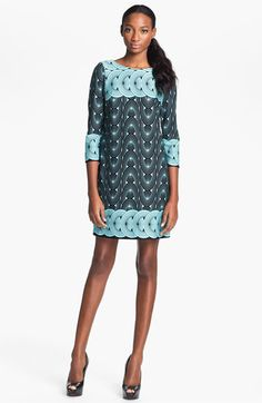 Taylor Dresses Graphic Print Ponte Shift Dress available at #Nordstrom