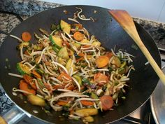Wok de vegetales con arroz yamaní - Wok vegetables with rice Yamani