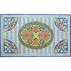 @Overstock - Add a unique touch to any wall with a wall mural  Mosaic is composed of ceramic tiles  'Sanandaj Design' mural is handmade and hand-painted in exotic Tunisiahttp://www.overstock.com/Home-Garden/Architectural-Sanandaj-Design-60-tile-Ceramic-Wall-Art/3571202/product.html?CID=214117 $587.99
