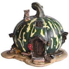 Green Gourd Fairy House - Fairy Houses - FAIRY GARDENS - GIFTS
