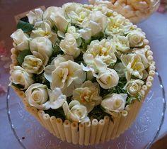 Chocolate wedding cake...