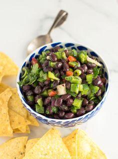 Healthy Black Bean Salsa Dip | NOURISHEDtheblog.com | The perfect party dip made gluten free, vegan and full of flavour. #vegan #healthyrecipe #glutenfree