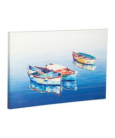 Another great find on #zulily! Blue Boats Outdoor Wall Canvas #zulilyfinds