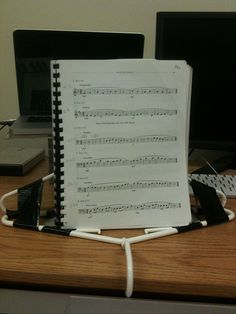 Do it yourself Music Stand .... I might just have to make one of these...