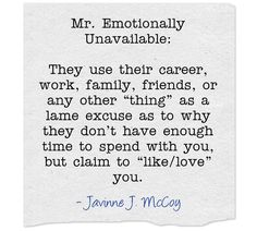 Dating mr emotionally unavailable