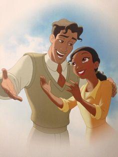 Tiana and Prince Naveen Disney Boys, Disney Nerd, Disney Couples, Disney Family, Cute Disney, Walt Disney Princesses, Disney Princess Tiana, Frog Princess, Princess Merida