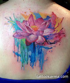 Watercolor lotus tattoo | Tattoo.com