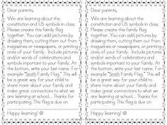 Home learning project our family constitution 3rd Grade Social Studies, Kindergarten Social Studies, Kindergarten Science, School Holiday Activities, Constitution Day, Dear Parents, Home Learning, Beginning Of School, School Holidays
