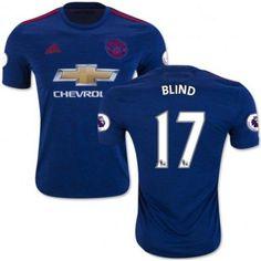 Manchester United 16-17 Daley #Blind 17 Udebanetrøje Kort ærmer,208,58KR,shirtshopservice@gmail.com