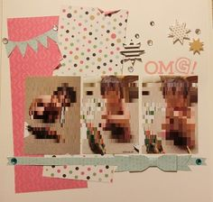 cute border = both sides of double-sided paper, cross border and really cute paper bow.