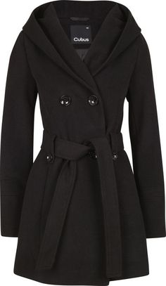 Beautiful black winter coat. Site is not in English