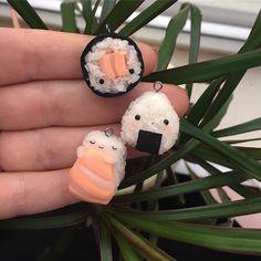#kawaii #charms #polymer #clay #sushi #onigiri #riceball