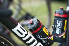 Pro Bike: Tejay van Garderen's BMC Teammachine SLR01 - Markings on the top of each bottle tell riders and soigneurs what's inside — water or some sort of mix. Photo: Caley Fretz | VeloNews.com