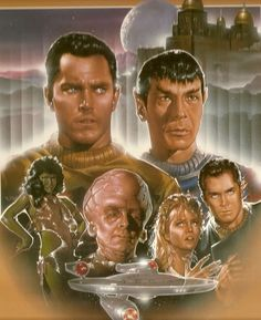 Star Trek : The Cage // Pilot. Image from the 1988 VHS release, never before seen until then. Star Trek Original Series, Star Trek Series, Star Trek Starships, Star Trek Enterprise, Fiction Movies, Science Fiction, Star Trek Tos Episodes, Star Trek Crew, Star Trek Poster