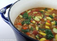 For the Love of Cooking » Vegetable, White Bean, and Orzo Soup