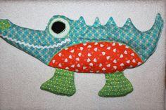 Wärmekissen - Kirschkernsäckchen Krokodil - ein Designerstück von bastelmaus19 bei DaWanda