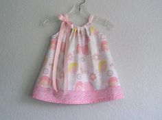 New  Baby Girls Easter Dress  Pink Yellow and Grey  by dreambirds, $34.95